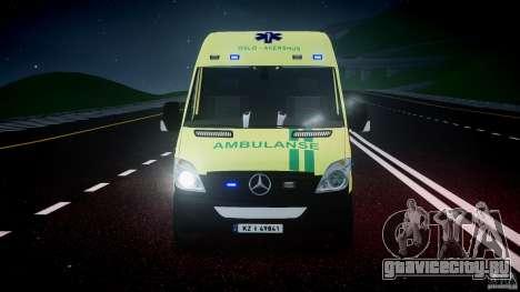 Mercedes-Benz Sprinter PK731 Ambulance [ELS] для GTA 4 вид сверху