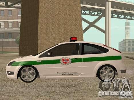 Ford Focus ST Policija для GTA San Andreas вид слева