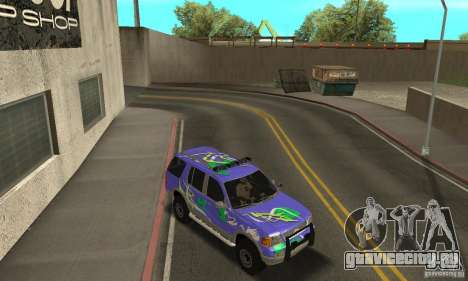 Ford Explorer 2002 для GTA San Andreas вид снизу