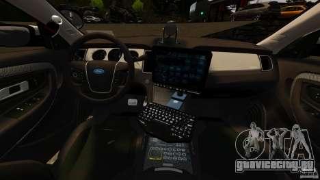 Ford Taurus 2010 CCSO Police [ELS] для GTA 4 вид сзади