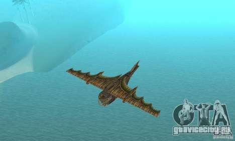 Очень красивый самолет из TimeShift для GTA San Andreas вид сбоку