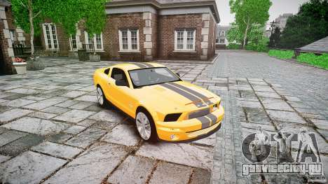 Shelby GT 500 KR 2008 K.I.T.T. для GTA 4 вид сзади