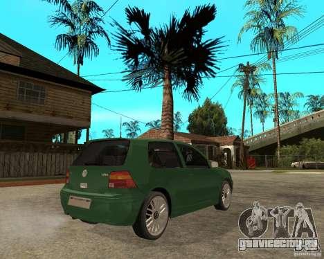Volkswagen Golf IV GTI для GTA San Andreas