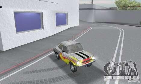 ЗАЗ 968м побитый для GTA San Andreas вид справа
