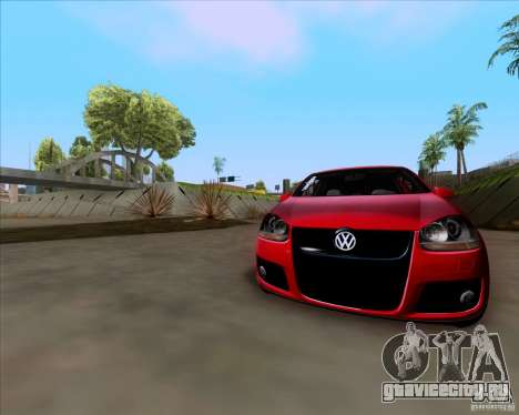 Volkswagen Golf MK5 GTI Stance для GTA San Andreas вид сзади
