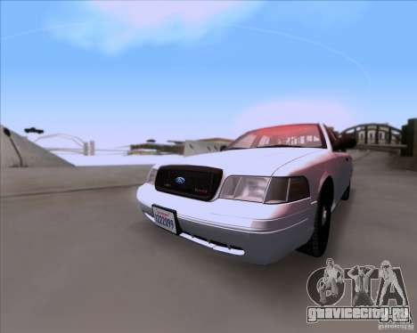 Ford Crown Victoria 2009 Detective для GTA San Andreas вид слева