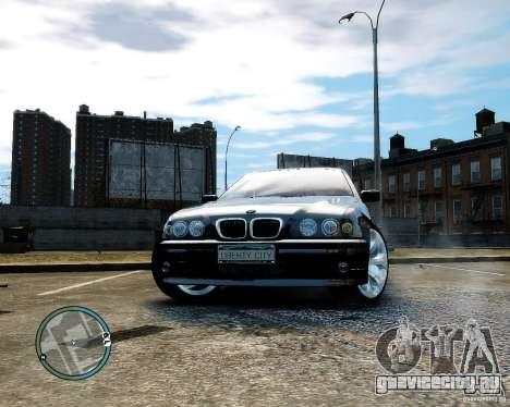 BMW 530I E39 [Final] для GTA 4 вид сзади