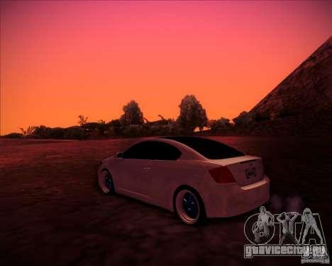 Scion tC Blue Meisters для GTA San Andreas вид сзади слева