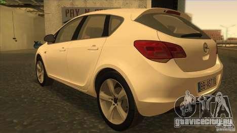 Opel Astra 2010 для GTA San Andreas вид сзади слева