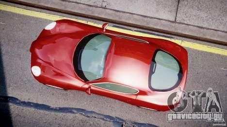 Alfa Romeo 8C Competizione для GTA 4 вид изнутри