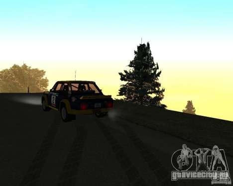 Fiat 131 Rally для GTA San Andreas вид сверху