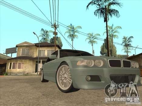 BMW E38 M7 для GTA San Andreas вид сзади