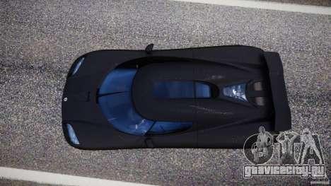 Koenigsegg CCXR Edition для GTA 4 вид справа
