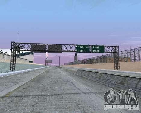 Дорожные указатели v1.2 для GTA San Andreas второй скриншот