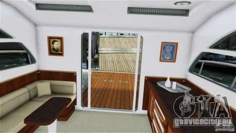 Luxury Yacht для GTA 4 вид сзади слева