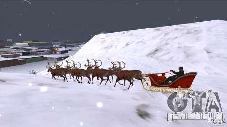 Оленья упряжка Деда Мороза для GTA San Andreas вид слева
