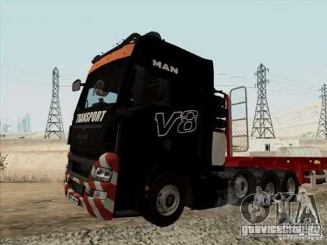 MAN TGX 8x4 для GTA San Andreas вид справа