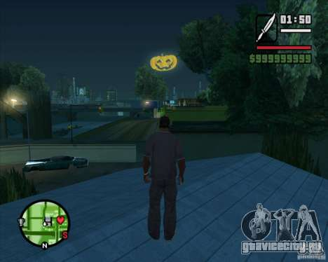 Happy Halloween Mod для GTA San Andreas второй скриншот