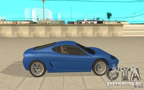 Turismo из GTA 4 для GTA San Andreas вид слева