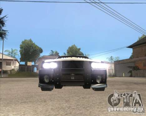 Police NFS UC для GTA San Andreas вид слева