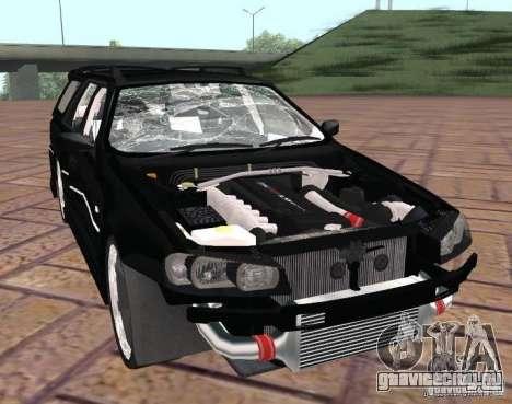 Nissan Stagea для GTA San Andreas вид изнутри