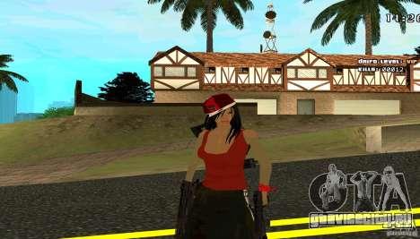 Chicano Chick Skin для GTA San Andreas второй скриншот