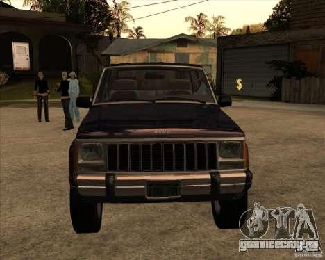 Jeep Cherokee для GTA San Andreas вид сзади слева