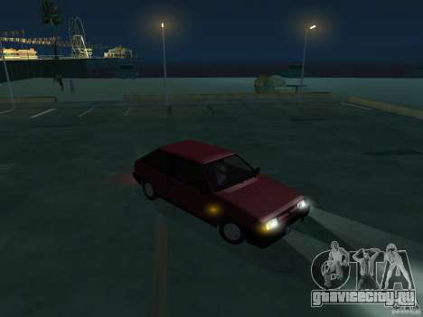 ВАЗ 2108 Сток для GTA San Andreas вид сзади