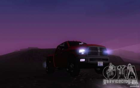 Dodge Ram 3500 Laramie 2010 для GTA San Andreas вид изнутри