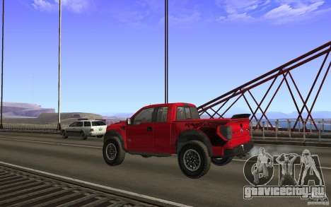 Ford F150 SVT RapTor для GTA San Andreas салон