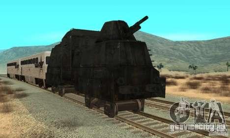 Немецкий бронепоезд второй мировой для GTA San Andreas