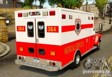 GMC C5500 Topkick Ambulance для GTA 4 вид сзади слева