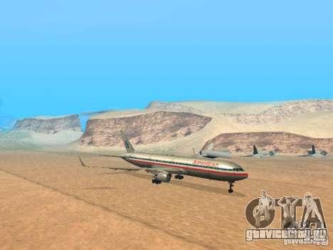 Boeing 767-300 American Airlines для GTA San Andreas вид слева