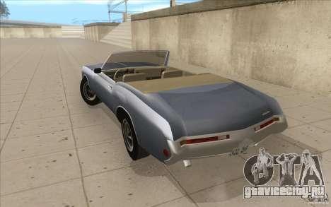 Buick Riviera GS 1969 для GTA San Andreas вид сзади слева