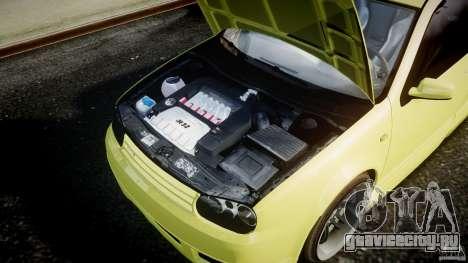 Volkswagen Golf IV R32 для GTA 4 вид изнутри