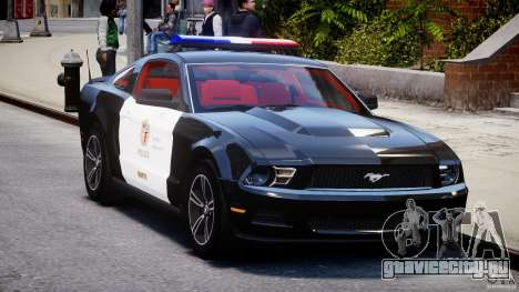 Ford Mustang V6 2010 Police v1.0 для GTA 4 вид сзади