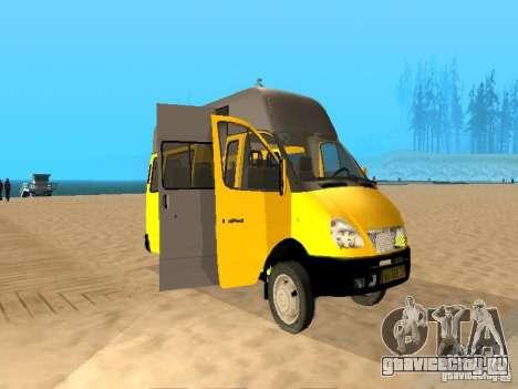 ГАЗель 32213 маршрутное такси для GTA San Andreas вид слева