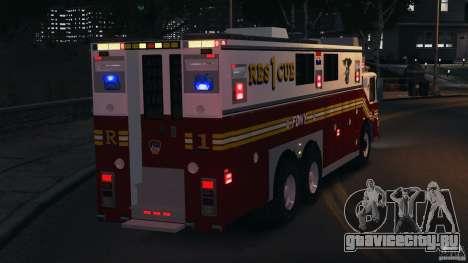 FDNY Rescue 1 [ELS] для GTA 4 салон