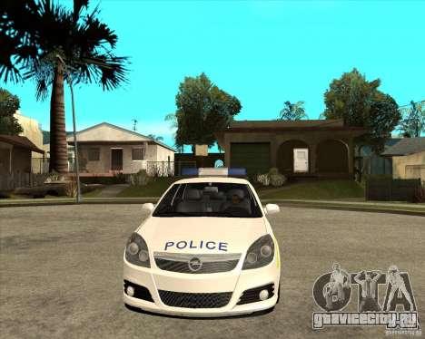2005 Opel Vectra Police для GTA San Andreas вид сзади