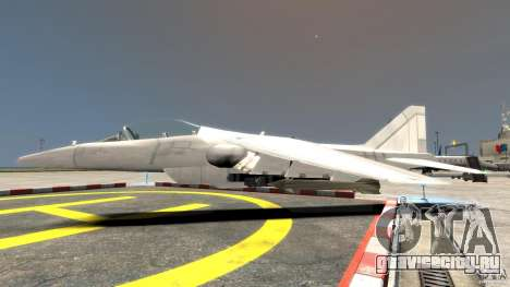 Liberty City Air Force Jet для GTA 4 вид слева