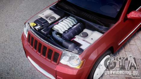 Jeep Grand Cherokee для GTA 4 вид изнутри