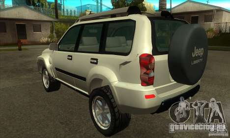Jeep Liberty 2007 для GTA San Andreas вид сзади слева
