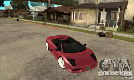 Lamborghini Murcielago Roadster Final для GTA San Andreas вид сзади