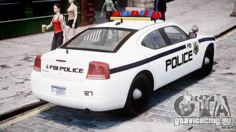 Dodge Charger FBI Police для GTA 4 вид сверху