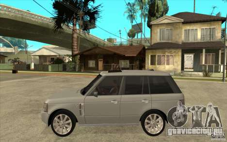 Land Rover Range Rover Supercharged 2009 для GTA San Andreas вид слева