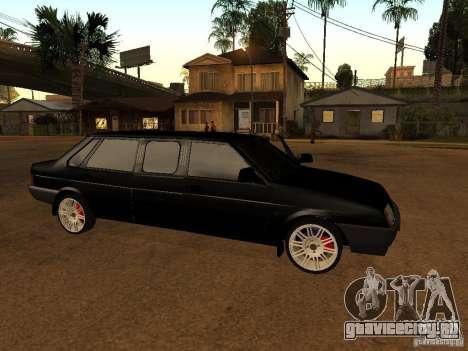 ВАЗ 21099 Лимузин для GTA San Andreas вид сзади слева