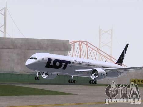 Boeing 787-9 LOT Polish Airlines для GTA San Andreas вид справа