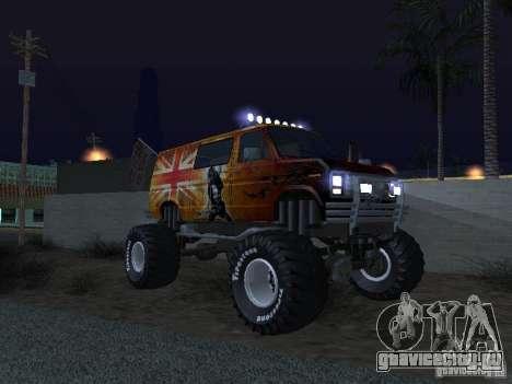 Ford Grave Digger для GTA San Andreas вид изнутри