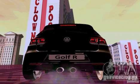 Volkswagen Golf GTI 2011 для GTA San Andreas вид сзади слева