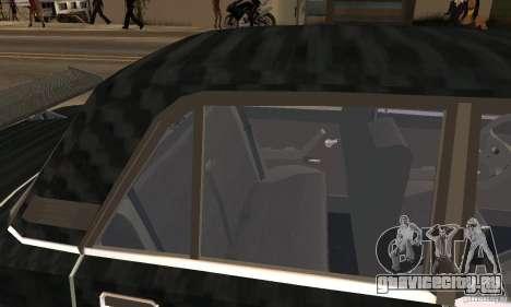 ВАЗ 2107 Turbo для GTA San Andreas вид сзади